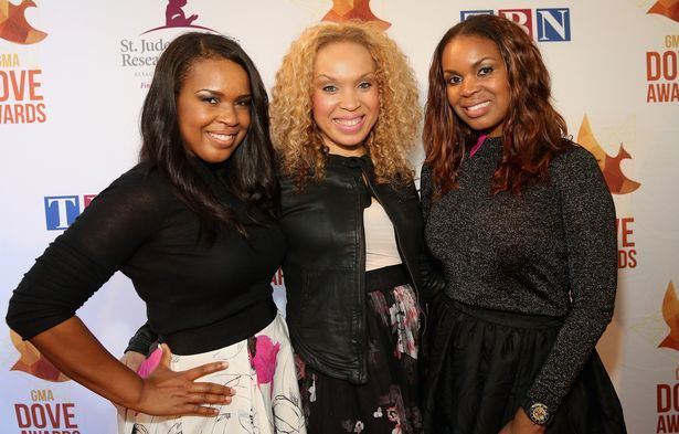 Virtue on the red carpet at the 45th Annual GMA Dove Awards in Nashville, TN