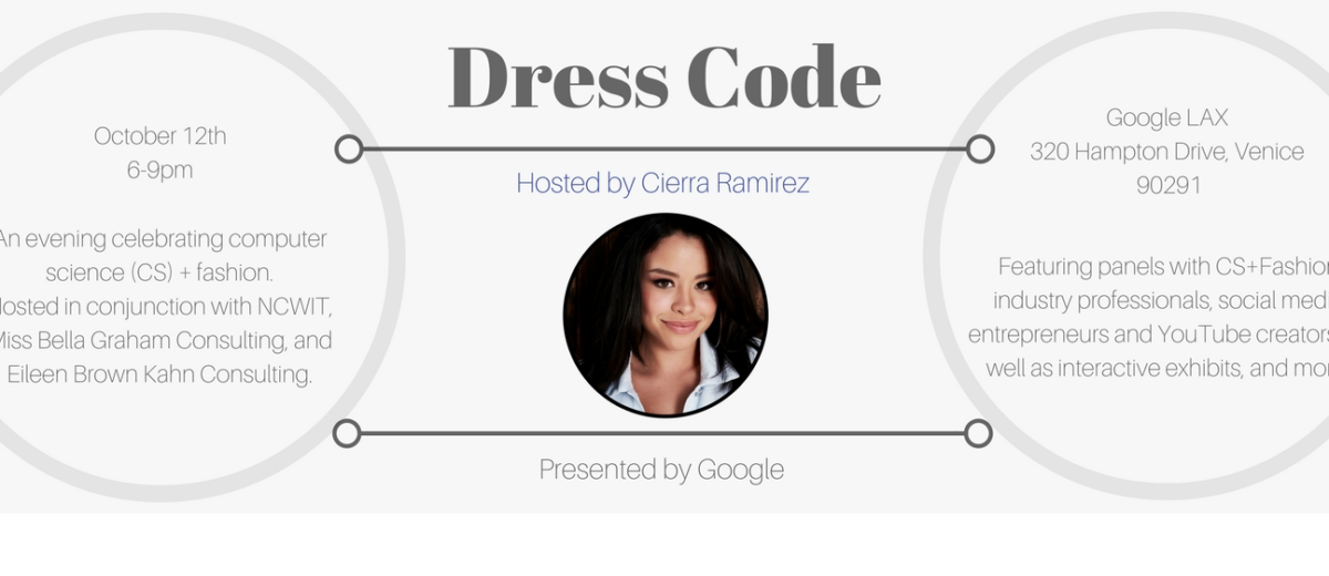 Dress CODE Jessica Grace White Attends Google's Dress CODE Event