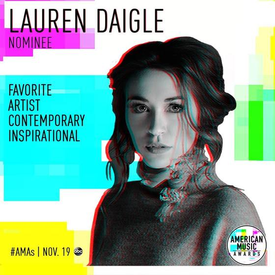 Lauren Daigle Nominated For Second American Music Award; Almost Human On Blade Runner 2049 Soundtrack