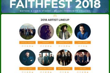 FaithFest NC 2018 Lineup Announced - Casting Crowns - Mandisa - Micah Tyler - Jordan Feliz & More