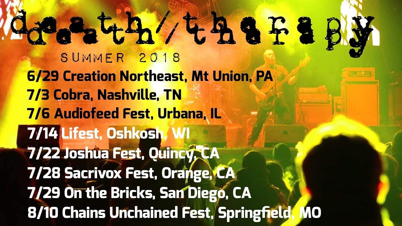Death Therapy Announces Recording of Second Album Amongst Summer 2018 Tour Dates