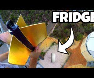 How Ridiculous - GIANT DART Vs. FRIDGE from 45m!