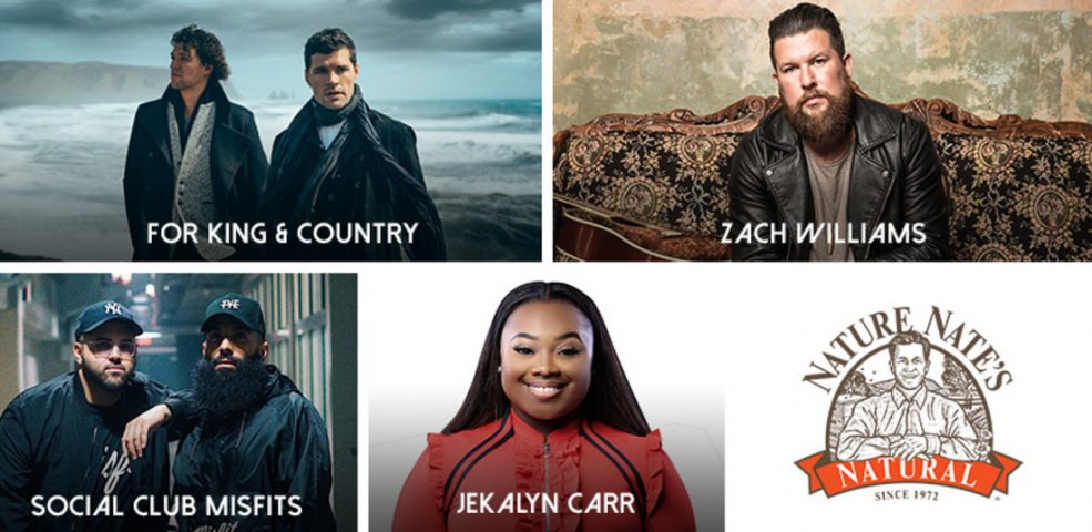 for KING & COUNTRY, Jekalyn Carr, Social Club Misfits and Zach Williams added to 49th Annual GMA Dove Awards, October 16