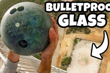 How Ridiculous: Bowling Ball Vs. Bulletproof Glass from 45m