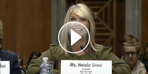 Natalie Grant speaks out at senate hearing to stop modern day slavery