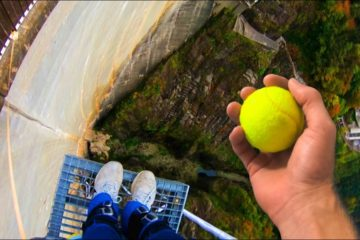How Ridiculous: Can We Catch a Tennis Ball While Bungee Jumping?