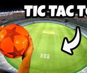 How Ridiculous: Soccer Tic Tac Toe from Stadium Roof