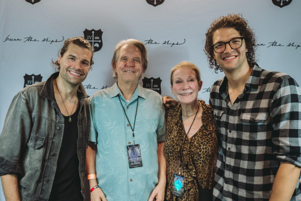 L to R: Joel Smallbone, Mike Curb (Chairman of Curb Records), Linda Curb, Luke Smallbone