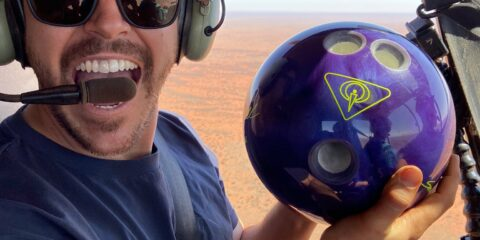 How Ridiculous: Bowling Ball vs Trampoline...from 1000 Feet