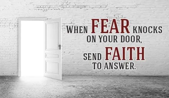 Sunday Encouragement: Faith > Fear
