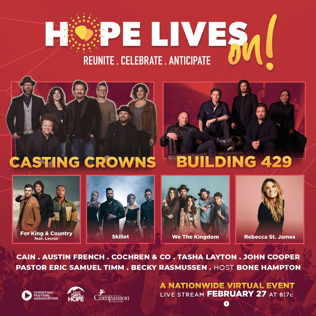 """The Christian Festival Association to Present the """"Hope Lives On"""" Virtual Festival Today"""